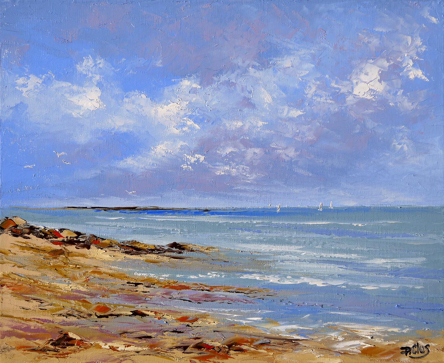 Le célèbre Dessin et peinture - vidéo 1969 : Mer et rivage pour une marine @AB_32