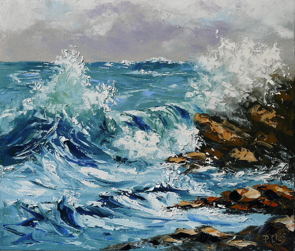 Très bien Dessin et peinture - vidéo 1833 : La mer houleuse - peinture à l #WF_38